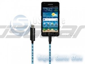 Micro USB Port Visible Blue Light LED USB Charging Cync Cable for Samsung HTC Sony Motorola LG Nokia Mobile Cell Phone